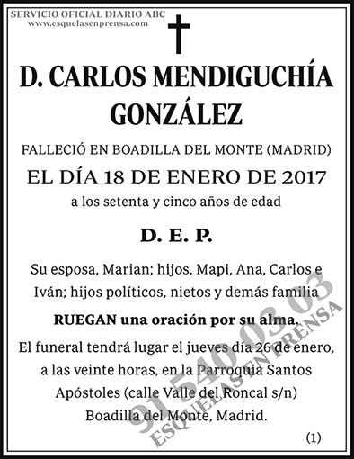Carlos Mendiguchía González